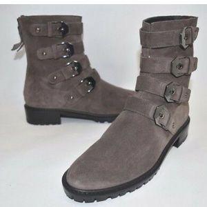 Stuart Weitzman Jitterbug Grey Suede Ankle Boot